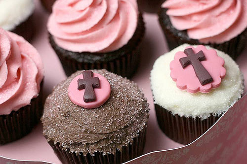 cup cakes comunion-bakerella