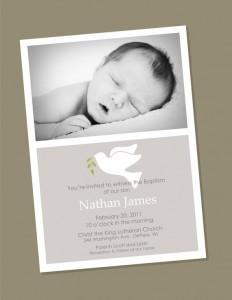 invitacion bautizo con foto
