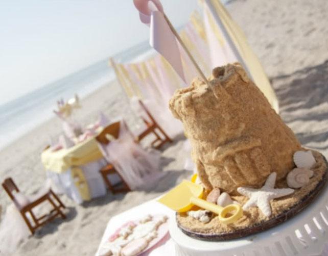 tarta castillo de arena
