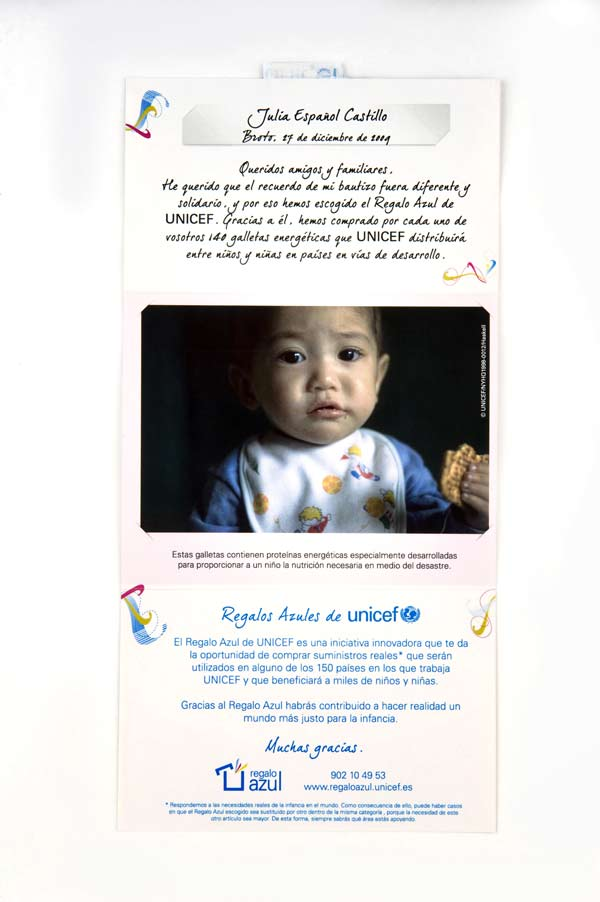 regalos solidarios unicef