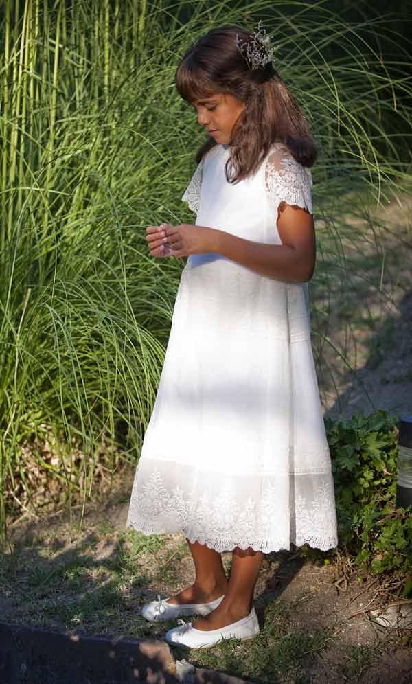 vestido comunion encaje algodon_TP Kids