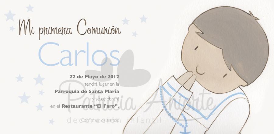 invitacion comunion niño