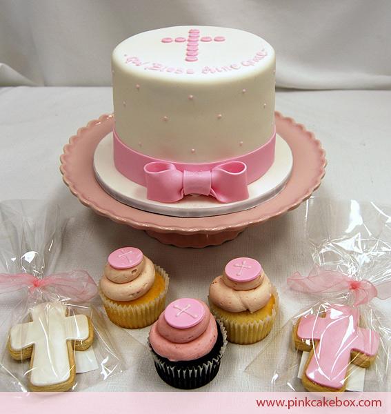 tarta para chica bautizo