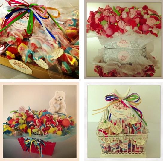 Mesas dulces caramelos y golosinas para Bautizo y comunión