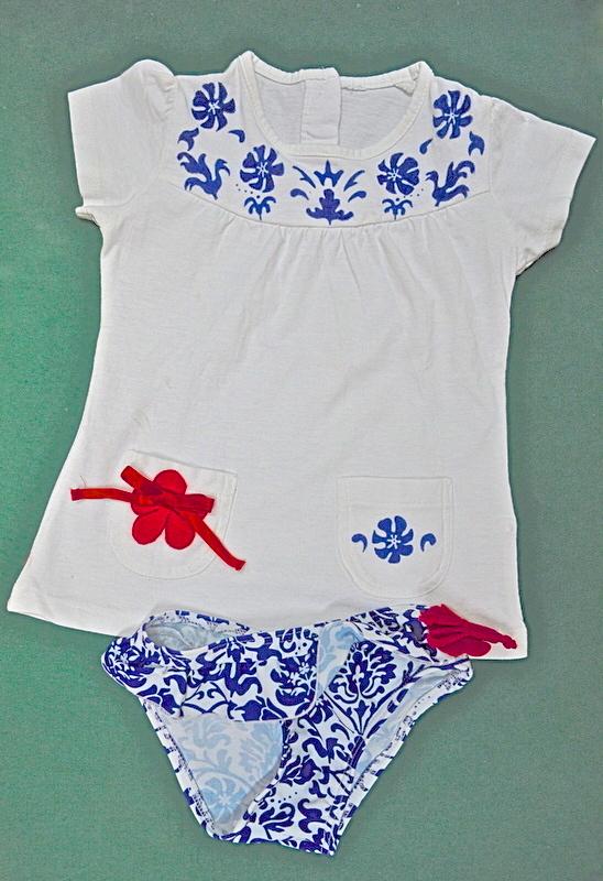 Bañador y camiseta pintado a mano regalo Comunion