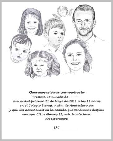 Invitaciones pintadas  a mano personalizadas Bautizo y comunión