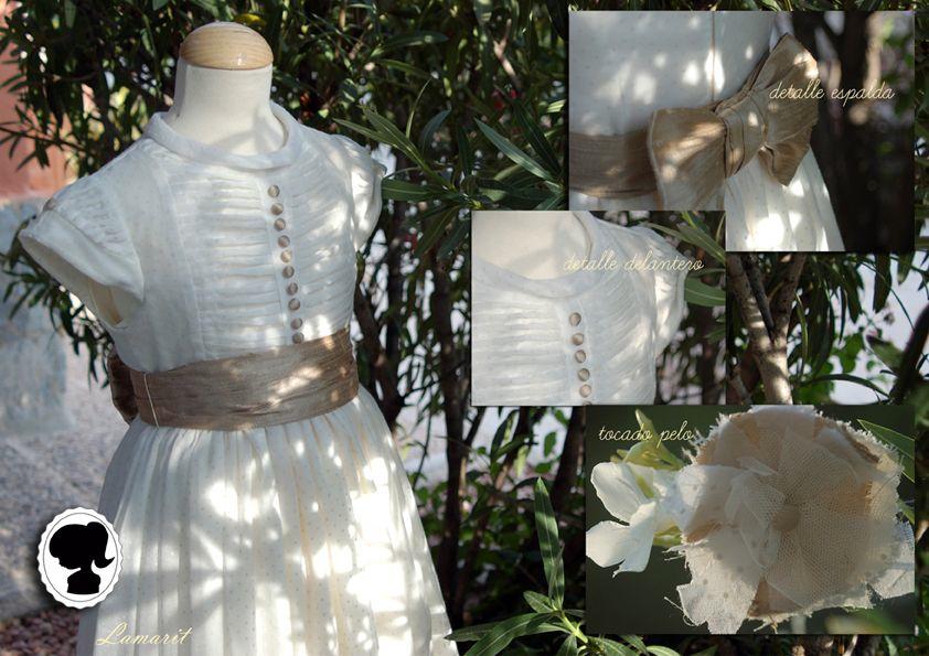 vestidos de Comunión estilo romántico - vintage
