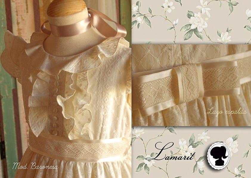 vestidos de primera comunión estilo romántico vintage
