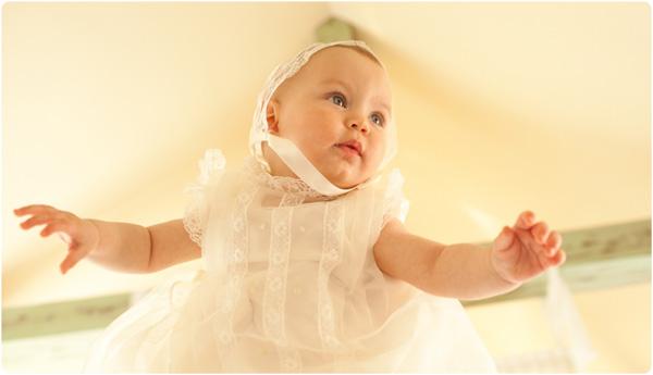 vestidos y faldones bautizo