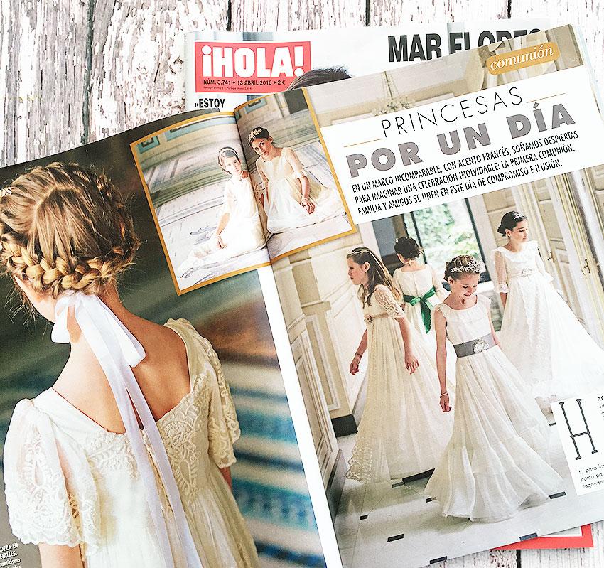 Bautizo y Comunion en la revista Hola