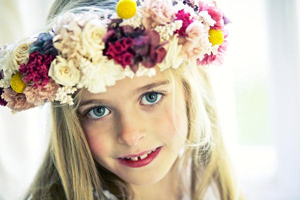corona de flores comuniones