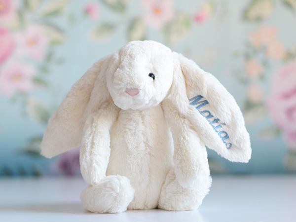 Conejo peluche personalizado Bebés Bautizos