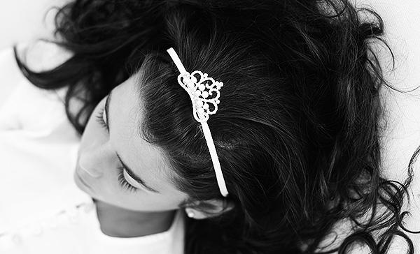 Cinta Corona Tocado Niñas Peinados Comuniones El Recién Nacido