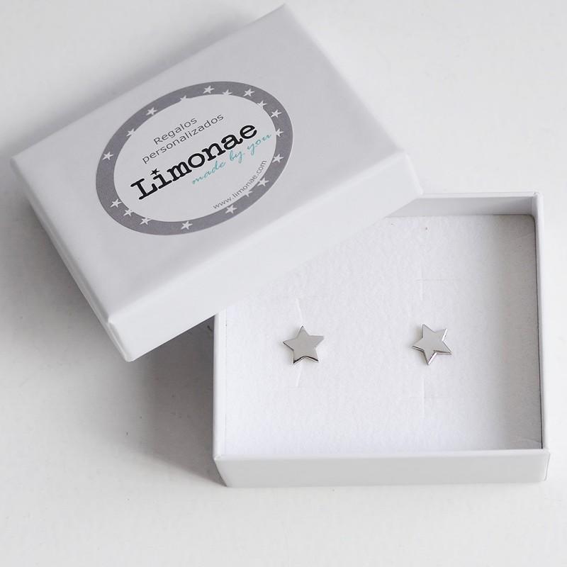 Pendientes estrella Niñas Joyas personalizadas regalos Comuniones Limonae
