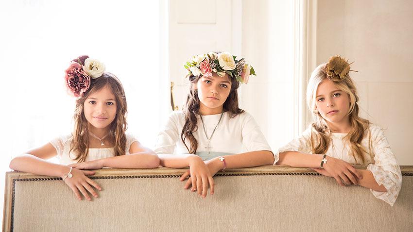 coronas de flores para primera comunion
