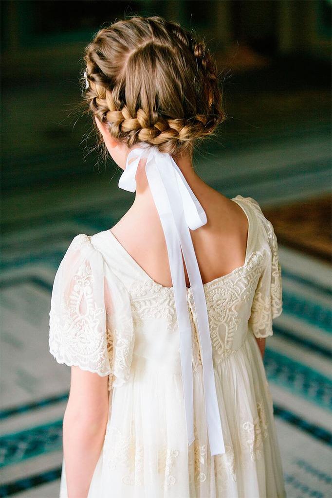 Peinados con trenzas para nina primera comunion