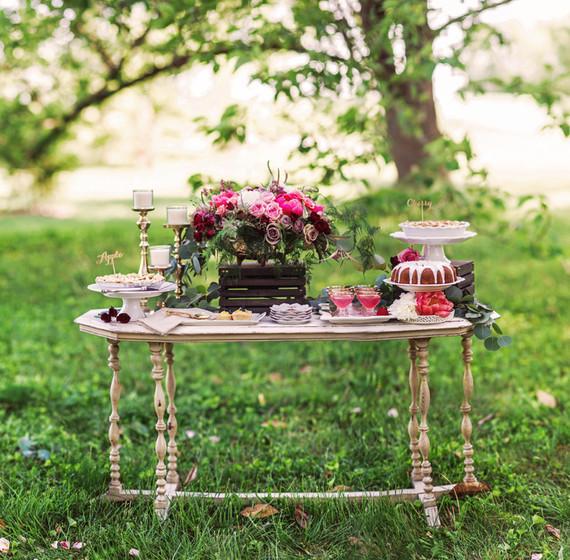 inspiración mesas jardín romanticas