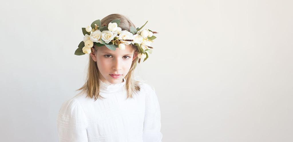 corona flores secas comunión