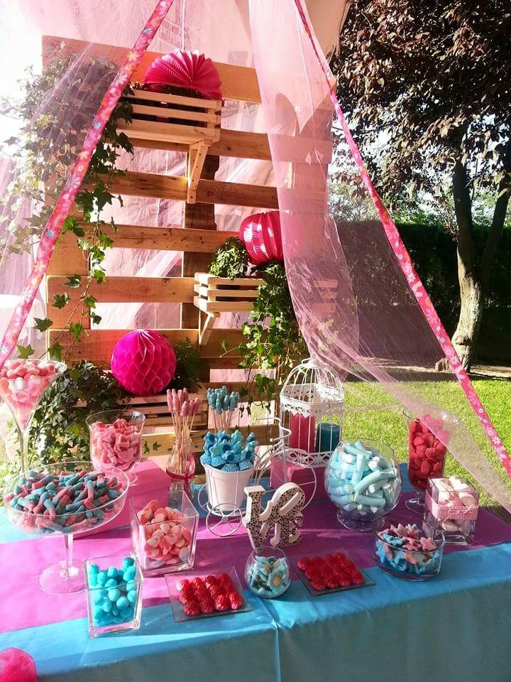 Candy bar bautizo y comunion - Decoracion de mesas de chuches para comunion ...