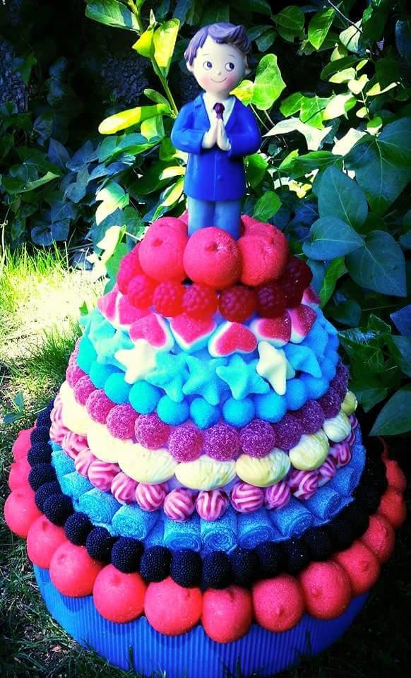 tarta de chucherías para evento