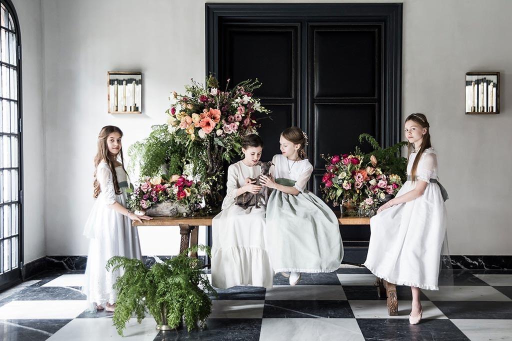 flores primera comunión