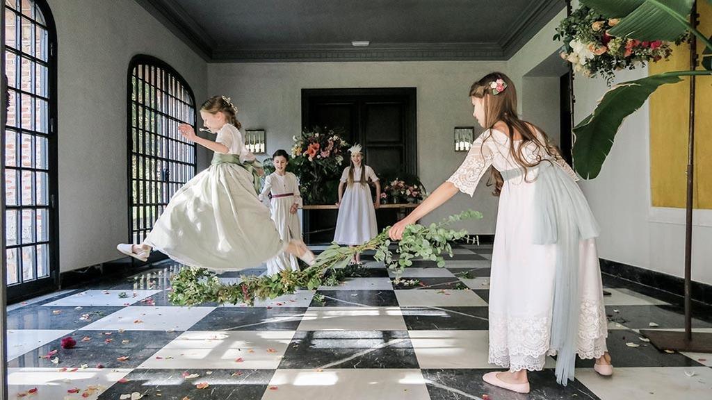 decoración floral primera comunión