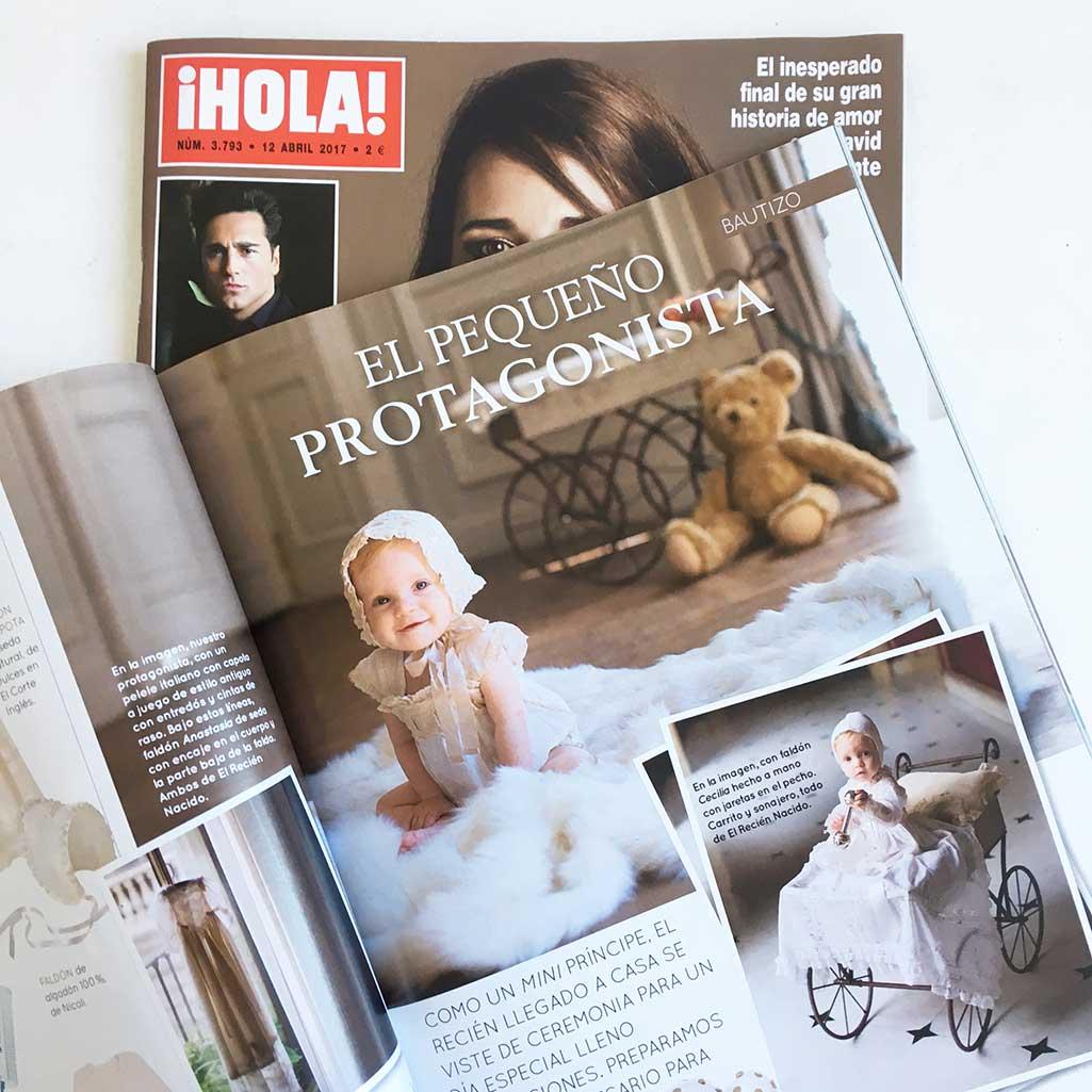 Sesion de fotos en la revista Hola