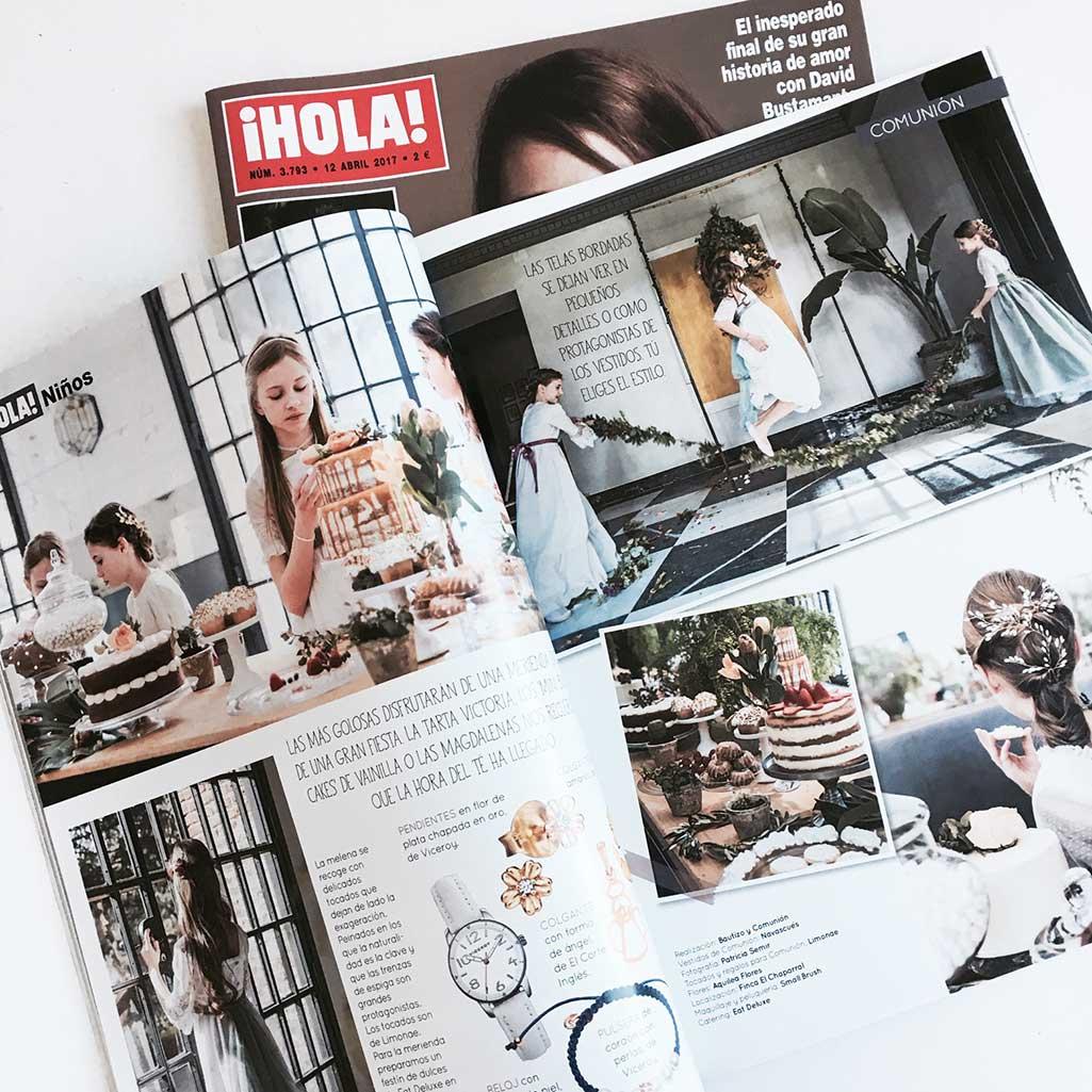 Shooting de Bautizo y Comunion en la revista Hola
