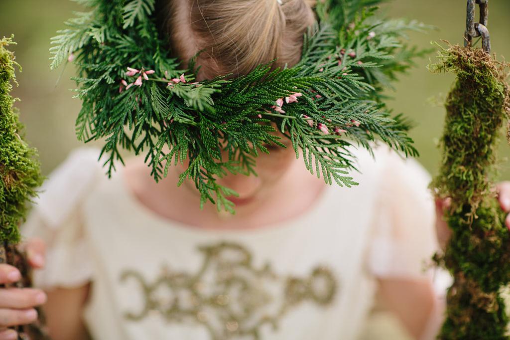 corona flor natural comunión