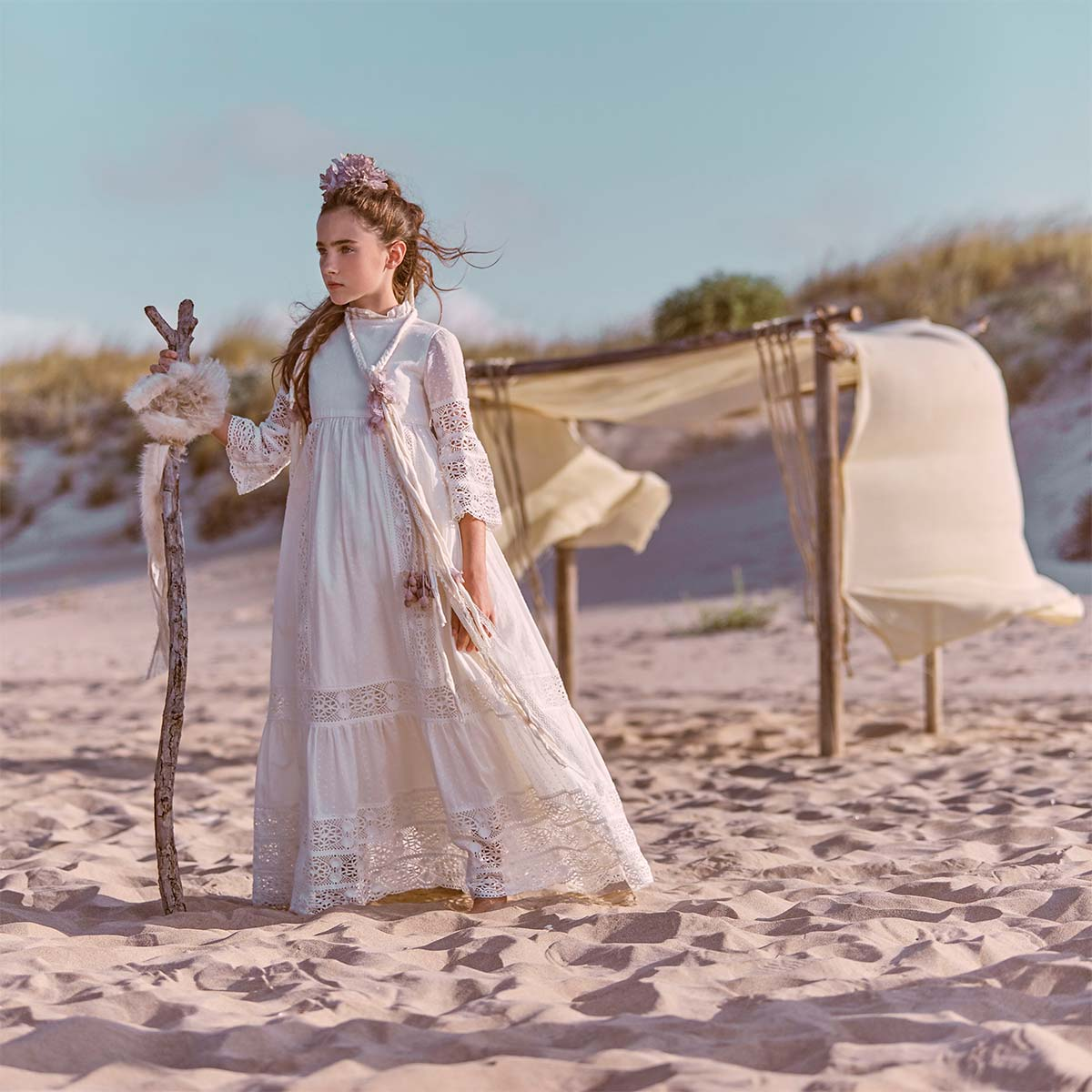 vestidos de comunion de encajes