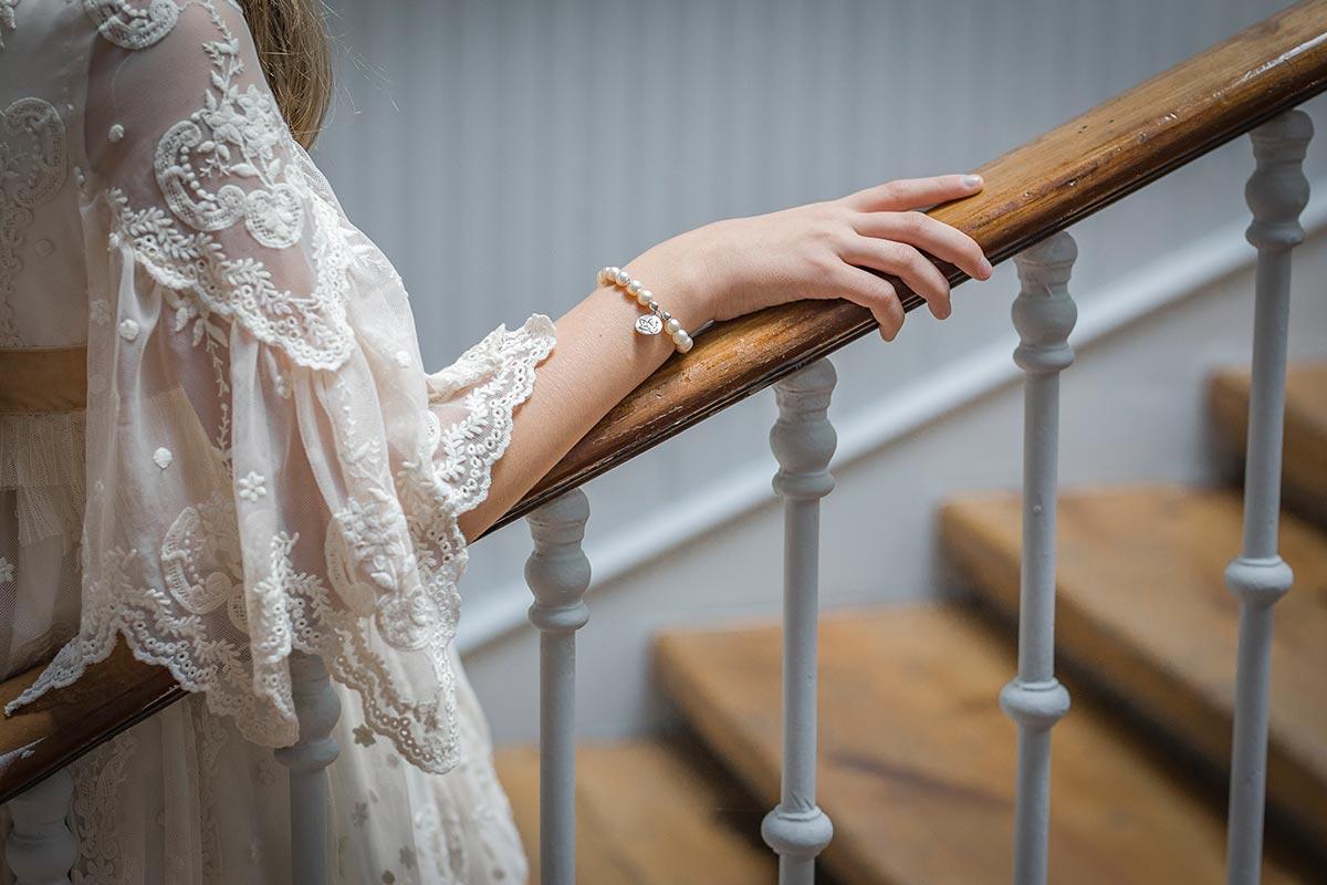 pulsera de perlas comunion
