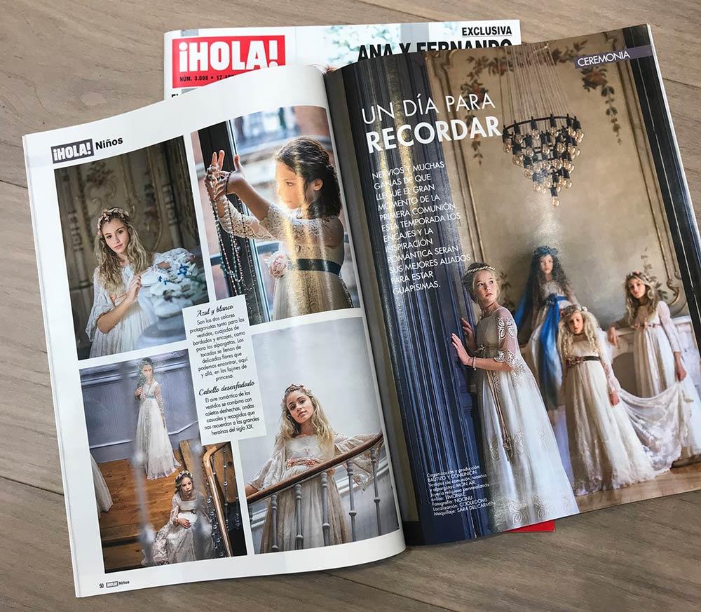 revista hola niños vestidos de comunion