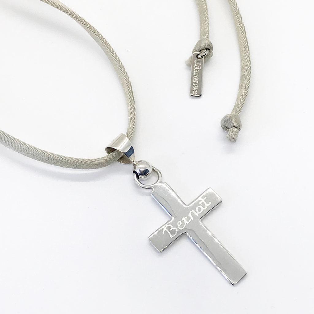 regalos comunion cruz grande de plata