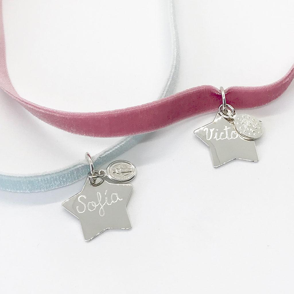 medallas de comunion infantiles personalizadas