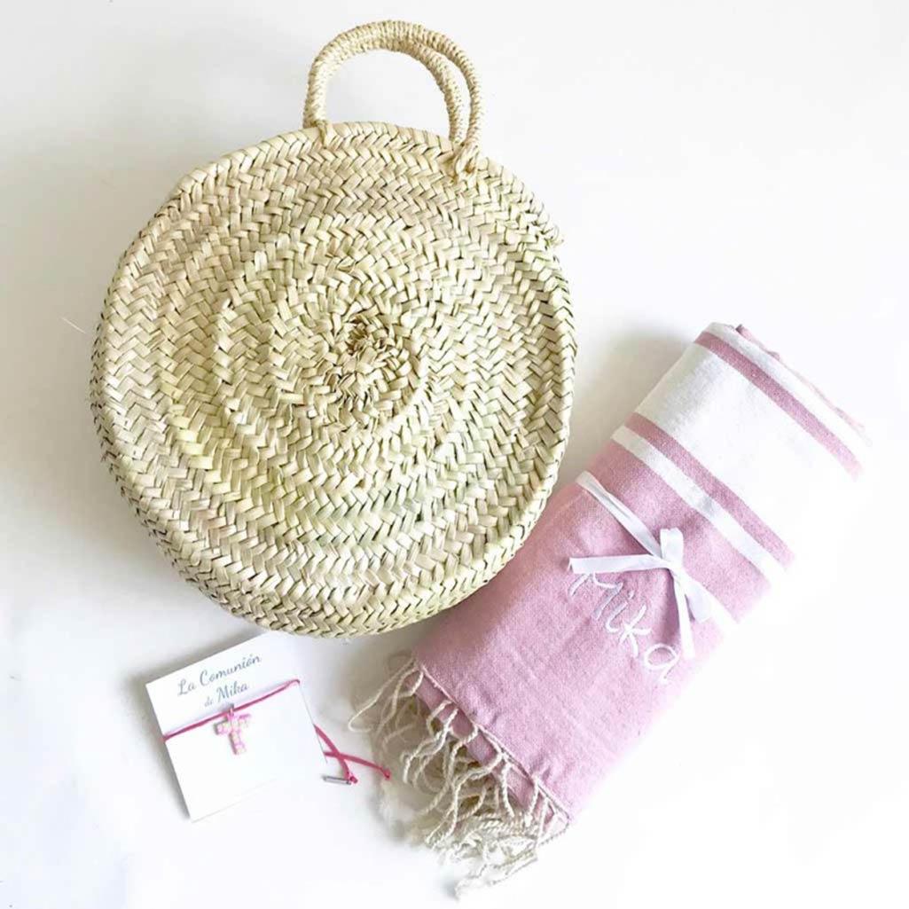 regalos de comunion para niña bolso y toalla con nombre