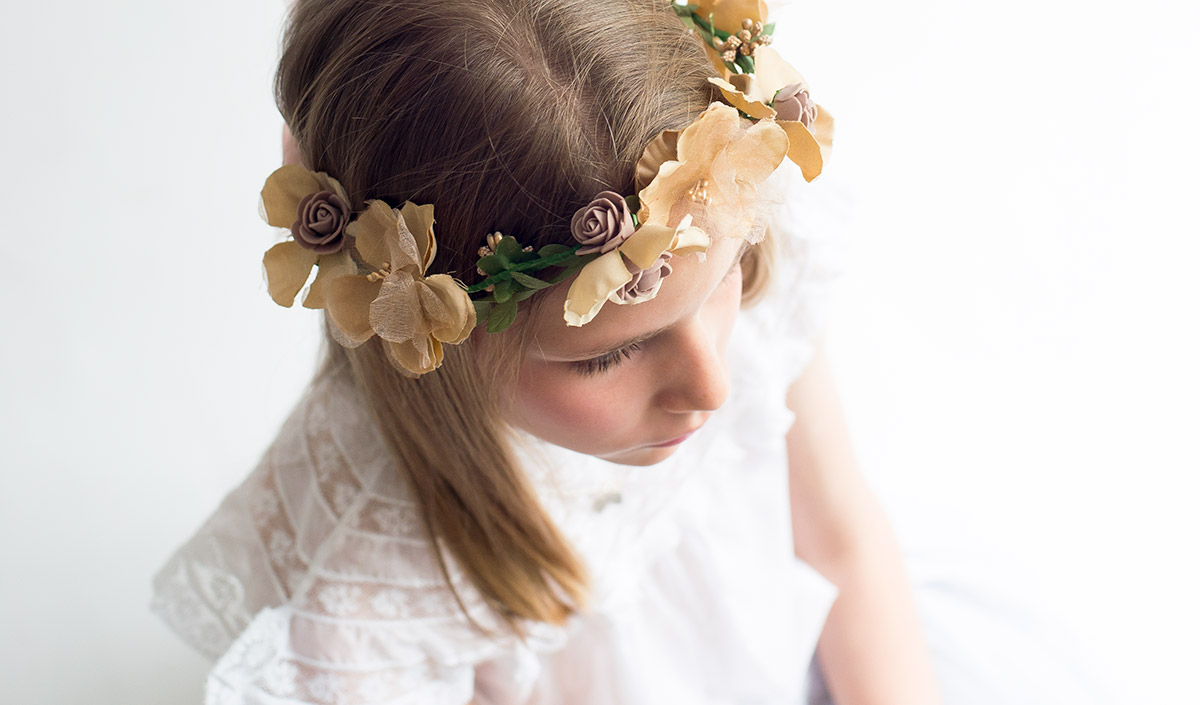 coronas de flores para comuniones