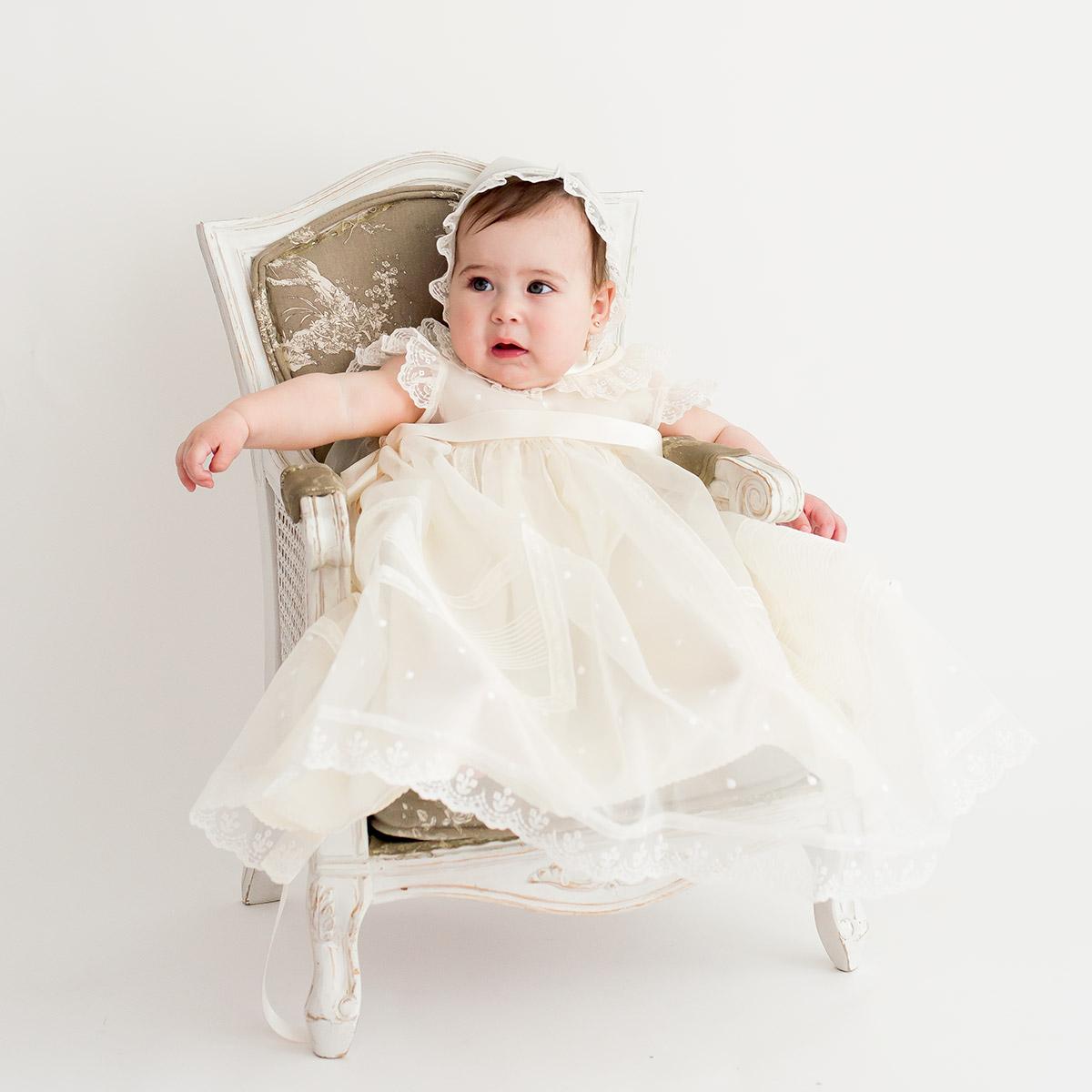 Vestido bautismal recien nacido