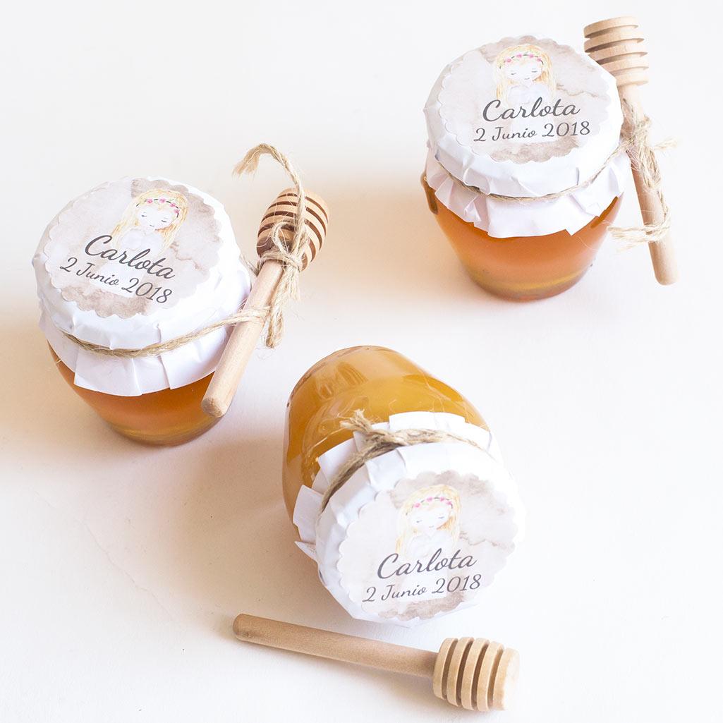 detalles originales comunion tarros de miel