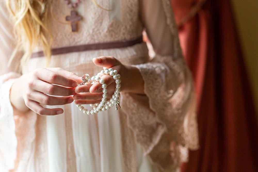 pulseras grabadas como detalle de comunion