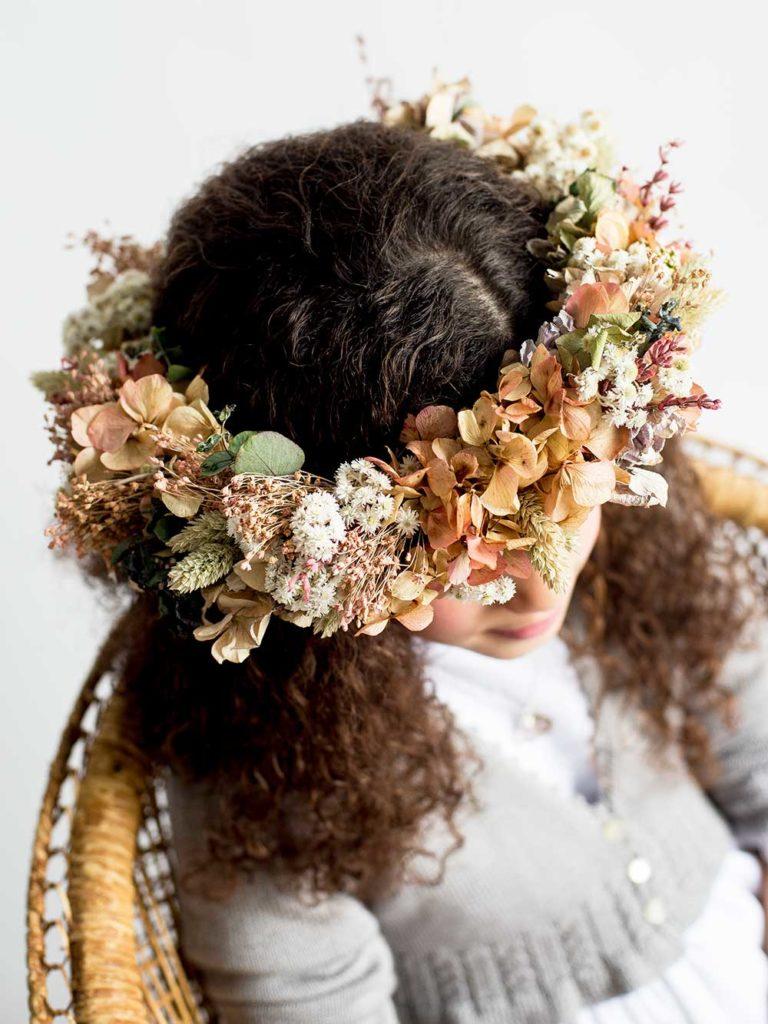 coronas de flores Comunion