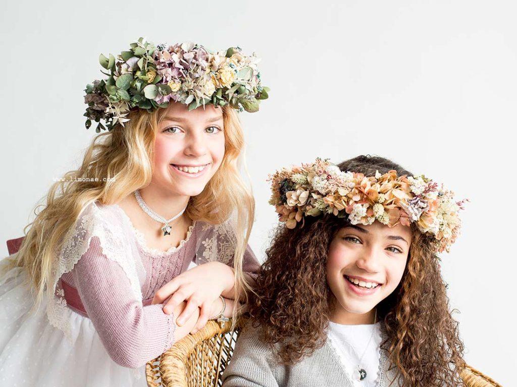 coronas de flores naturales para comunion