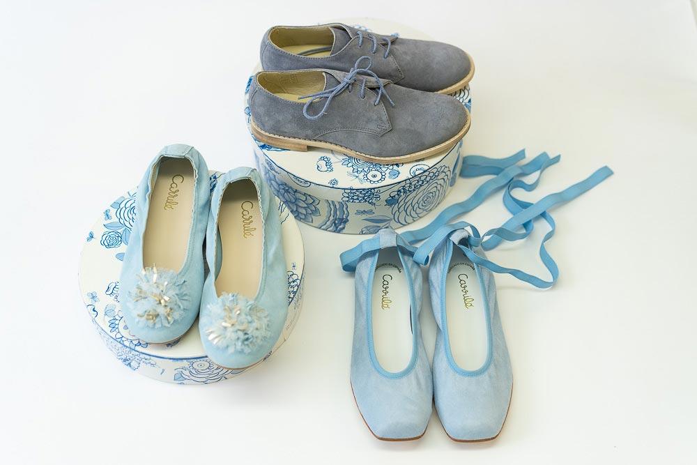 bailarinas y zapatos de colores para comunion